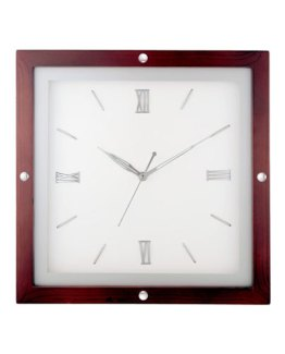 Square-Wooden-Analog-Clock