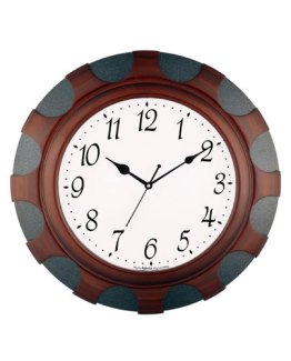 Two-Tone-Wooden-Analog-Clock
