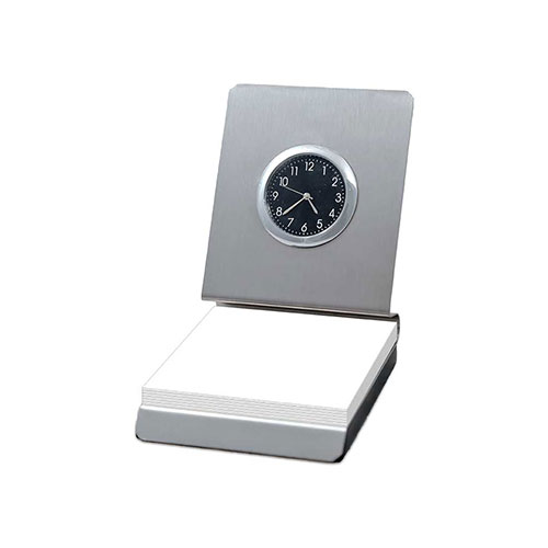 Memo-Pad-Holder-with-Clock
