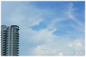 ペナン大学内からの眺め飛行機