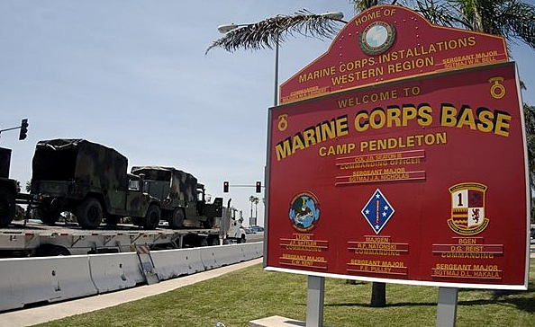 Camp Pendleton is shown in a file photo. (Credit: KSWB)