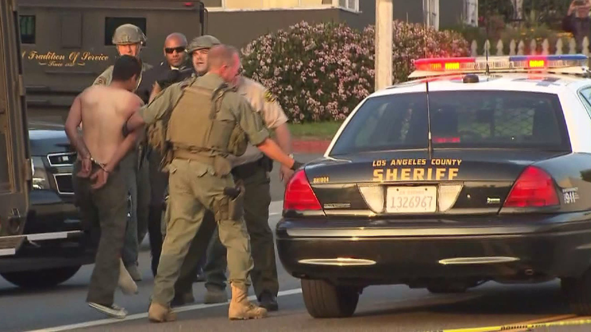 Sheriff's deputies identified David Carrillo, pictured, as the man detained on Saturday, Feb. 21, 2015, after an hourslong standoff in Santa Monica. (Credit: KTLA)