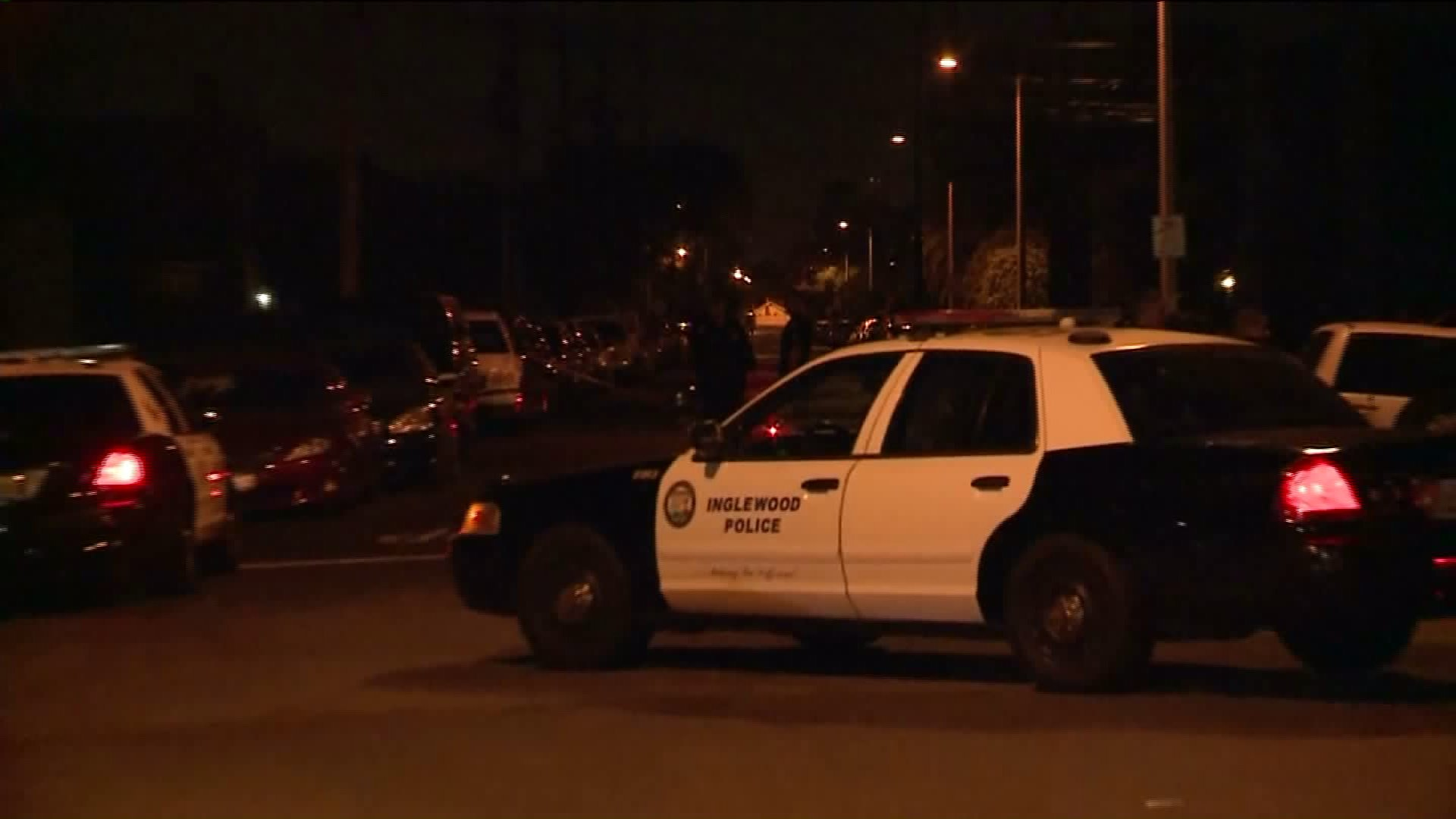 "An investigation was underway after a ""domestic homicide"" left a woman dead on Nov. 11, 2015, Inglewood police said. (KTLA)"