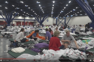 Harvey Relief Shelter, courtesy Red Cross