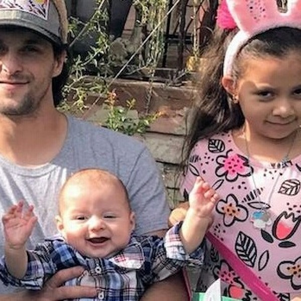 Juan Reynoso, 34, and his children Emma Reynoso, 6, and 5-month-old Sebastian Reynoso are seen in a photo posted to a GoFundMe campaign.