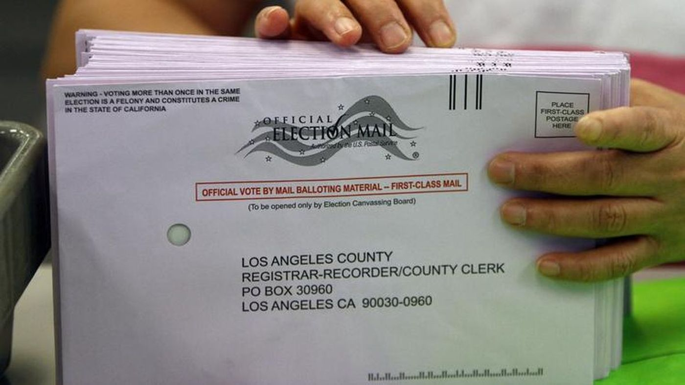 Mail-in ballots are shown in this file photo. (Allen J. Schaben / Los Angeles Times)