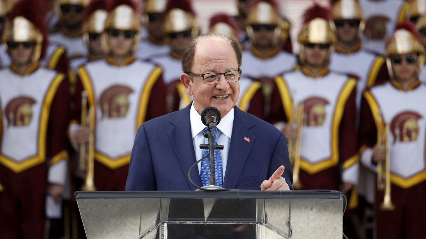 An undated photo shows USC President C.L. Max Nikias. (Credit: Los Angeles Times)