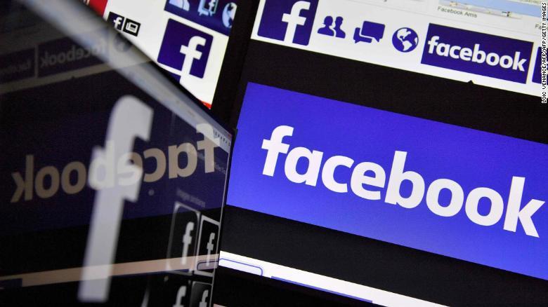 This file photo taken on Nov. 20, 2017, shows logos of US online social media and social networking service Facebook. (Credit: VENANCELOIC VENANCE/AFP/Getty Images)