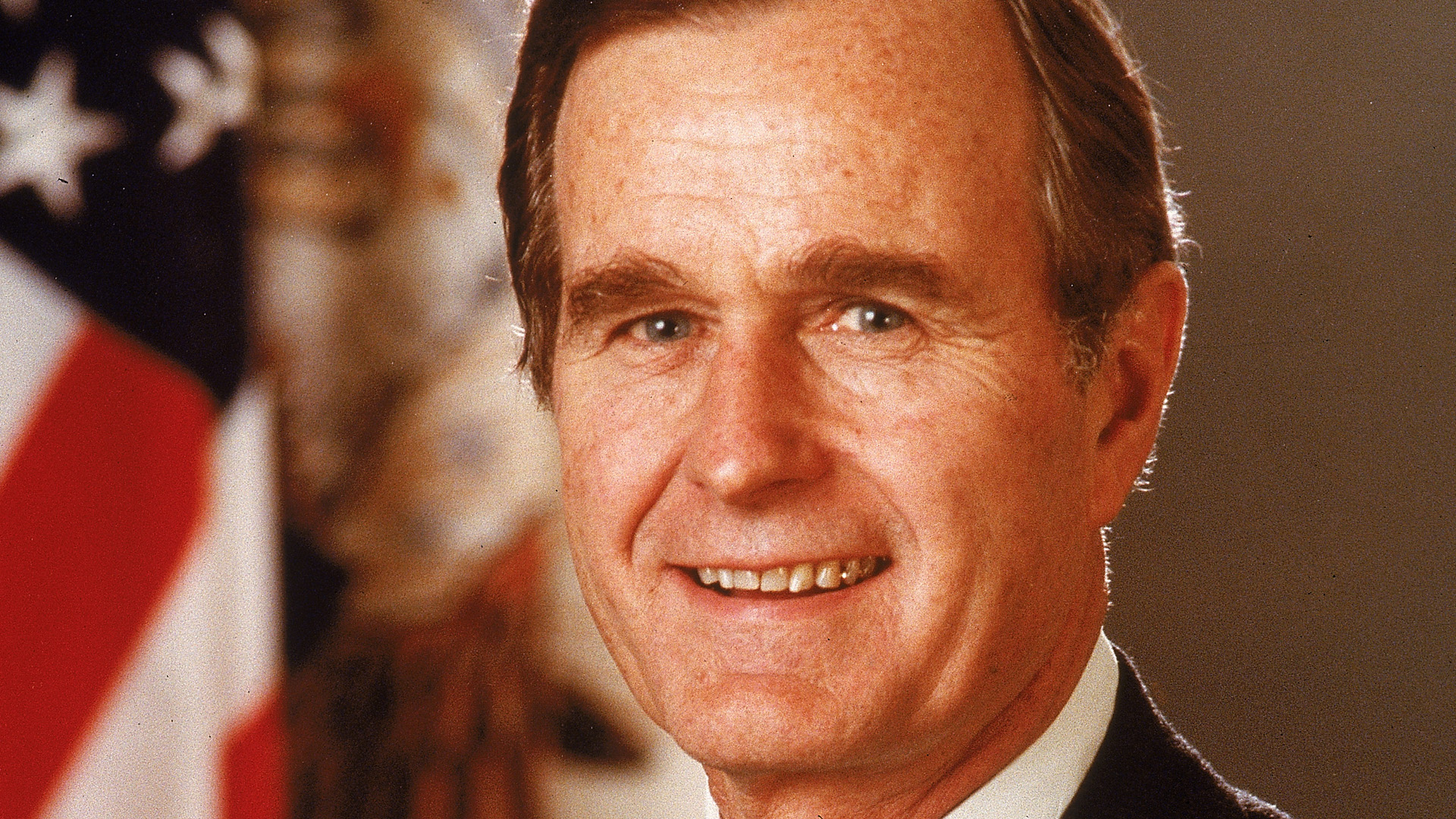 President George H. W. Bush appears in a White House portrait, circa 1989. (Credit: Hulton Archive/Getty Images)