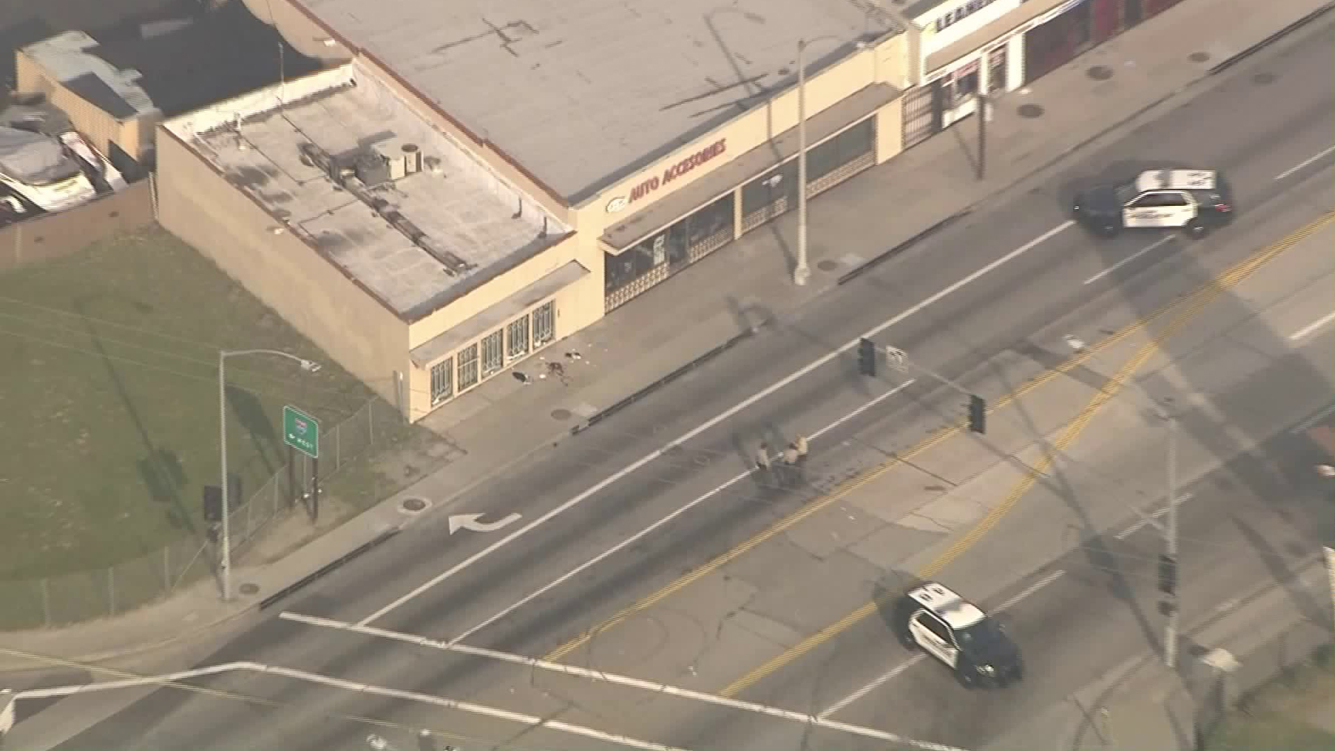 Police investigated a shooting involving officers in South Gate on Jan. 29, 2019. (Credit: KTLA)