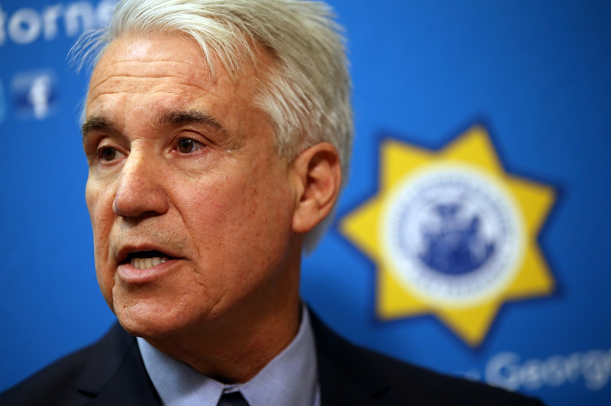 San Francisco District Attorney George Gascon speaks during a new conference on Dec. 9, 2014. (Justin Sullivan / Getty Images)