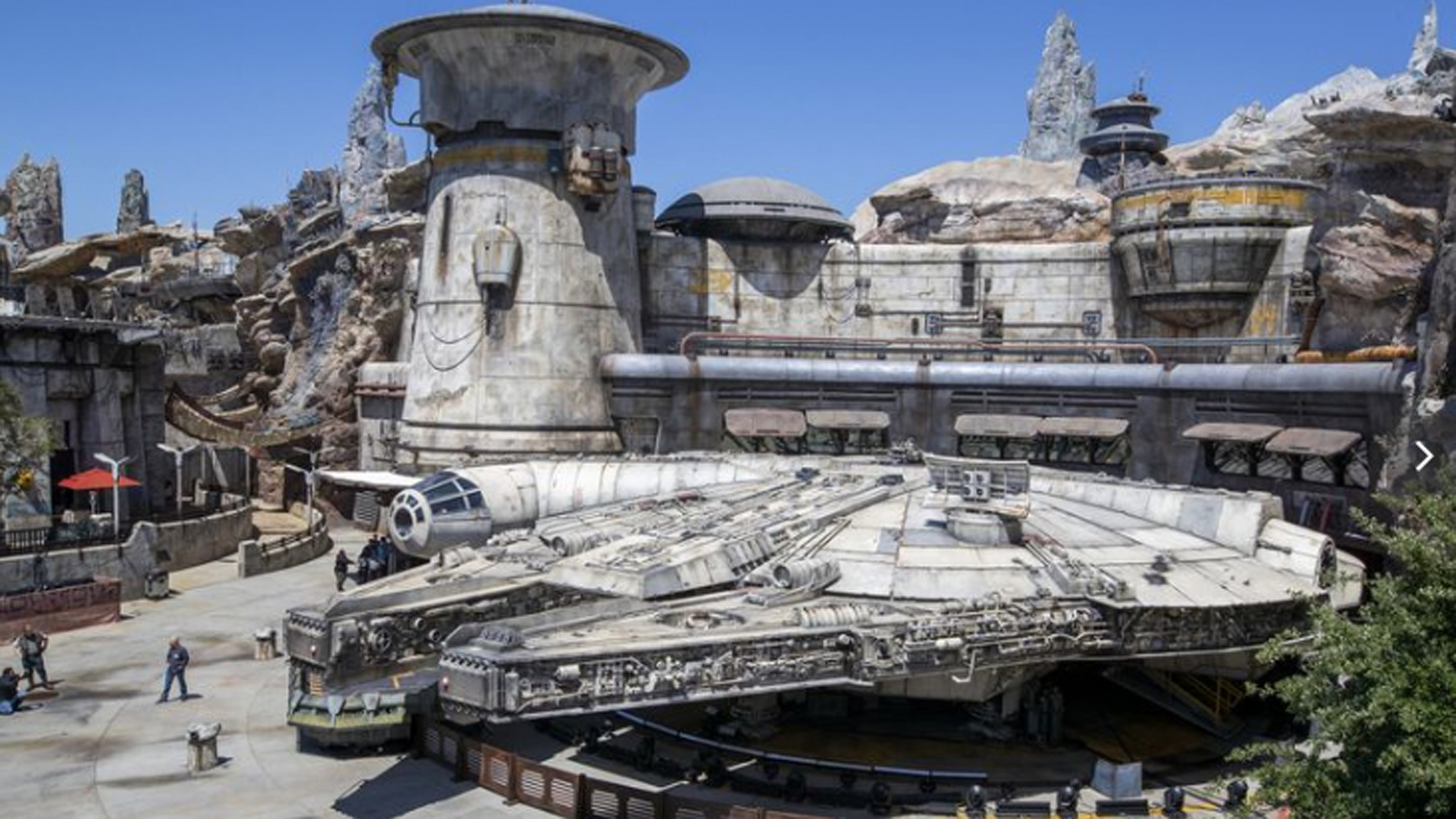 A preview of the Millennium Falcon: Smugglers Run section of Star Wars: Galaxy's Edge at Disneyland. (Credit: Allen J. Schaben / Los Angeles Times)