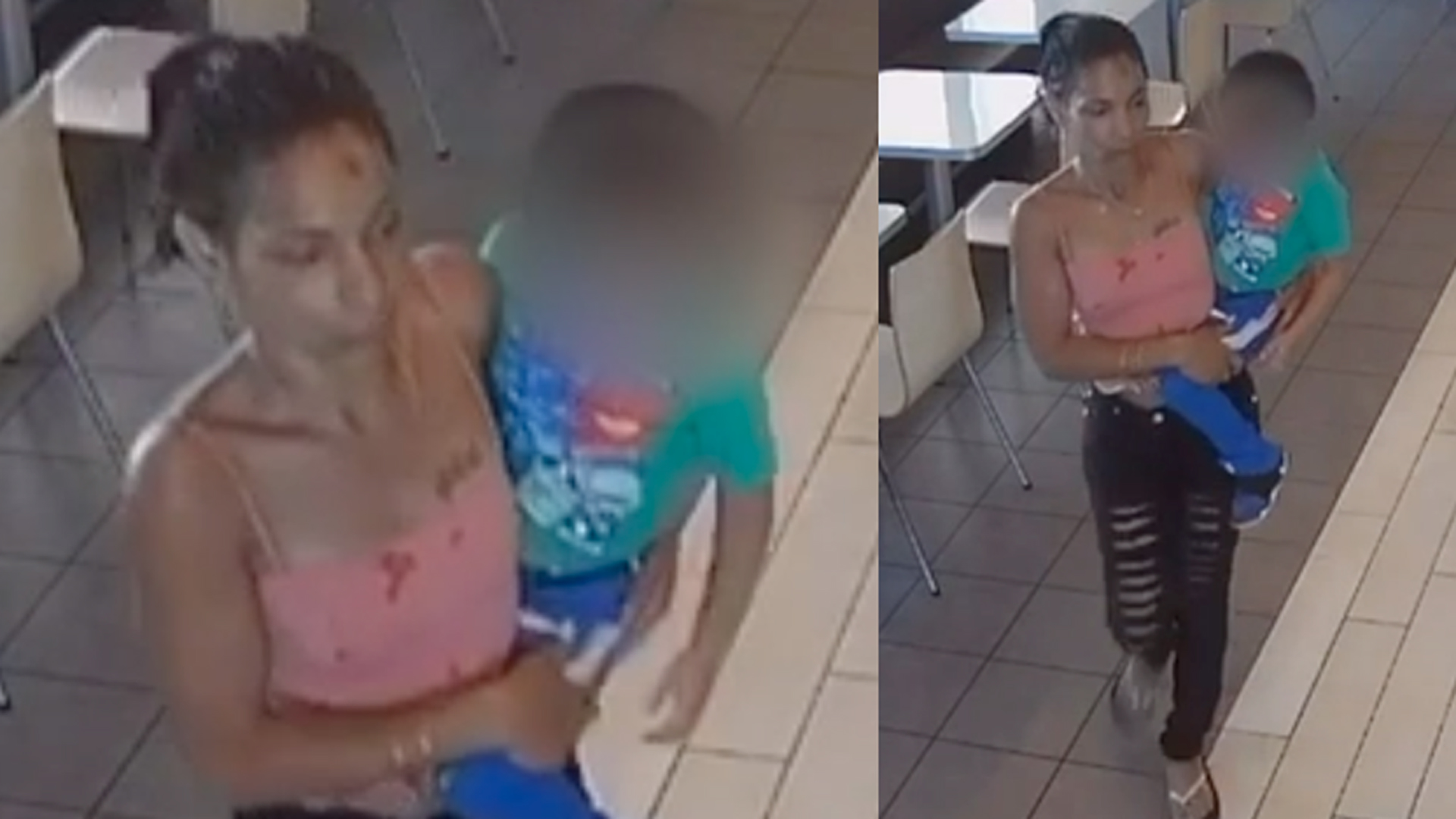 LAPD released these surveillance images of the woman suspected of kidnapping a child at a McDonald's in downtown L.A. May 14, 2019.