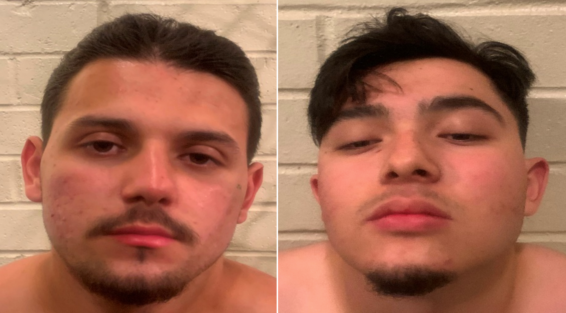 Nathan Runneals, 19, on the left and Abraham Gomez, 18, on the right, appear in undated photos provided by the Placentia Police Department on May 24, 2019.