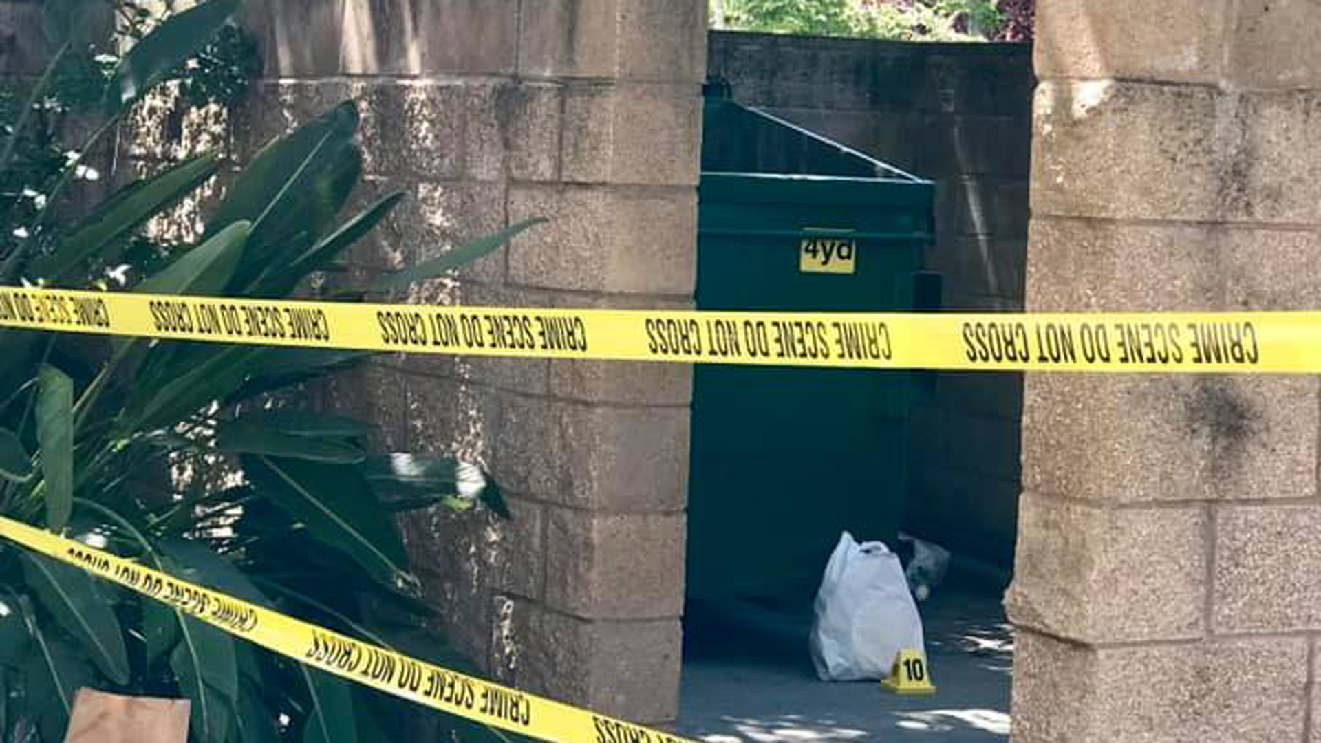 Stockton police released this photo of the dumpster where a newborn baby was rescued on June 11, 2019.