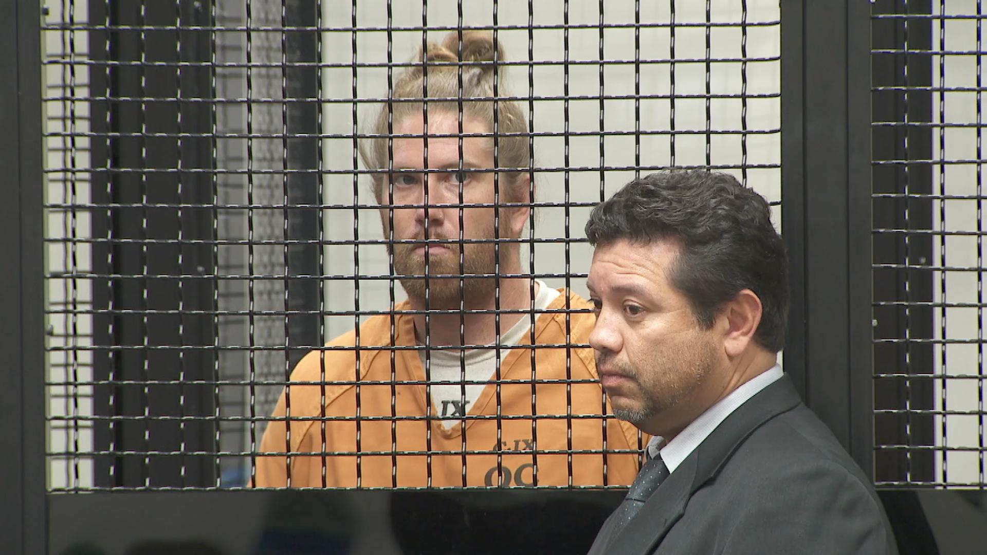 Kenneth Heimlich appears in a Fullerton courtroom on June 24, 2019. (Credit: KTLA)