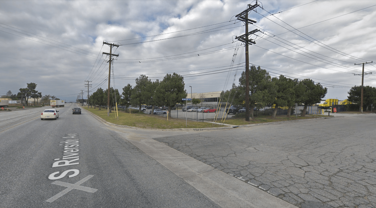 The intersection of Riverside Avenue and Industrial Drive in Rialto is seen in a Google Maps Street View image on June 12, 2019.