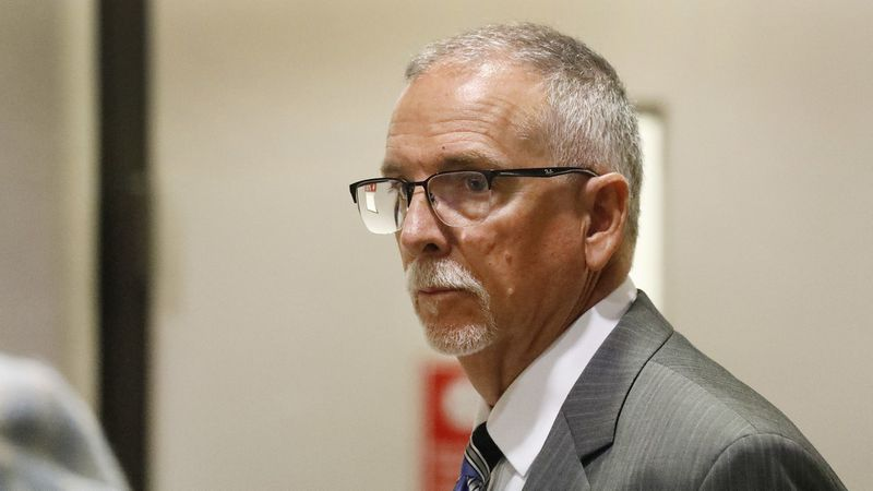 Dr. James Heaps, a former UCLA Health gynecologist, appears at the Airport Courthousein Del Aire on June 11, 2019. (Credit: Al Seib / Los Angeles Times)