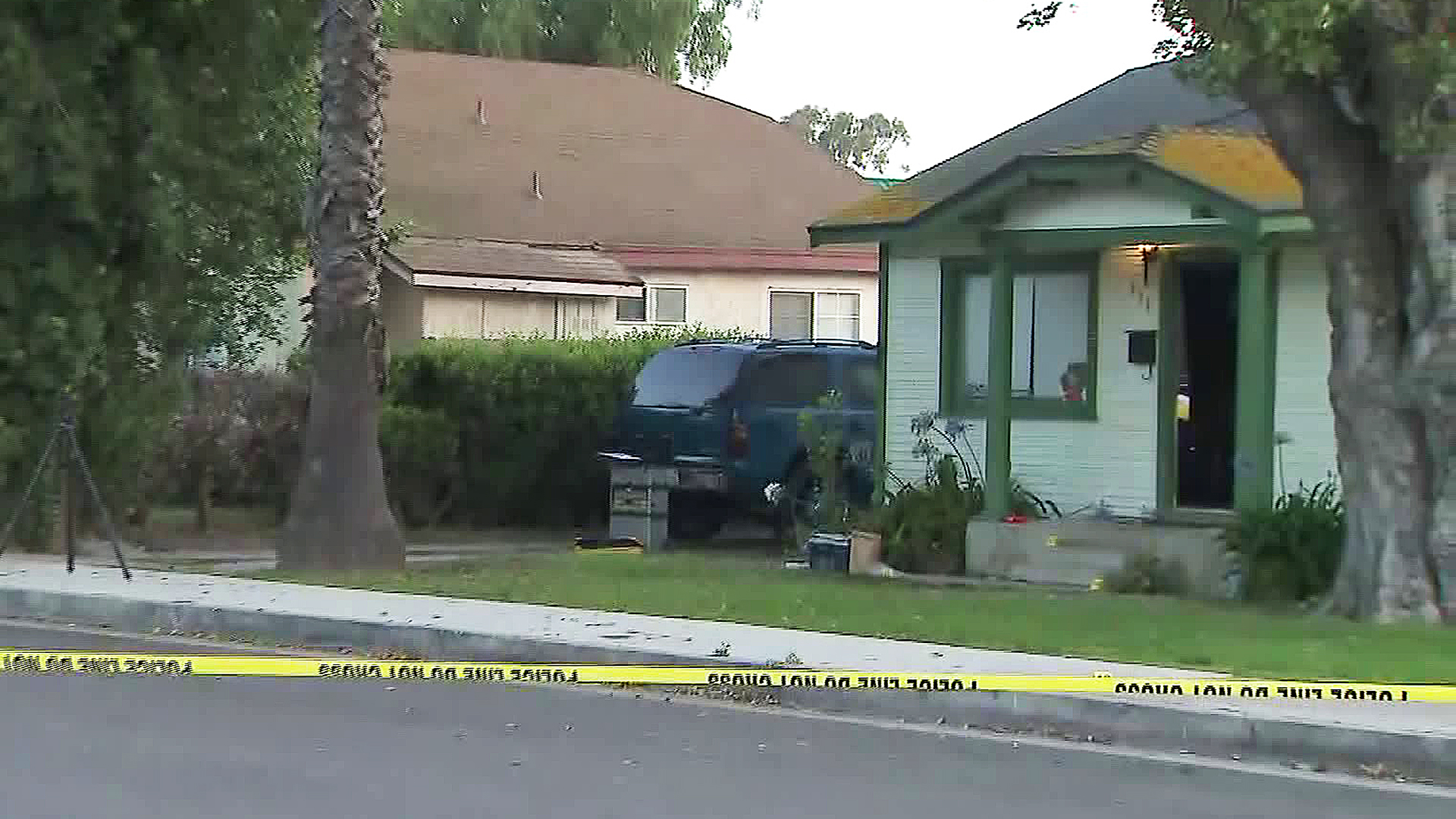 Police investigate a shooting in Port Hueneme on July 2, 2019. (Credit: KTLA)