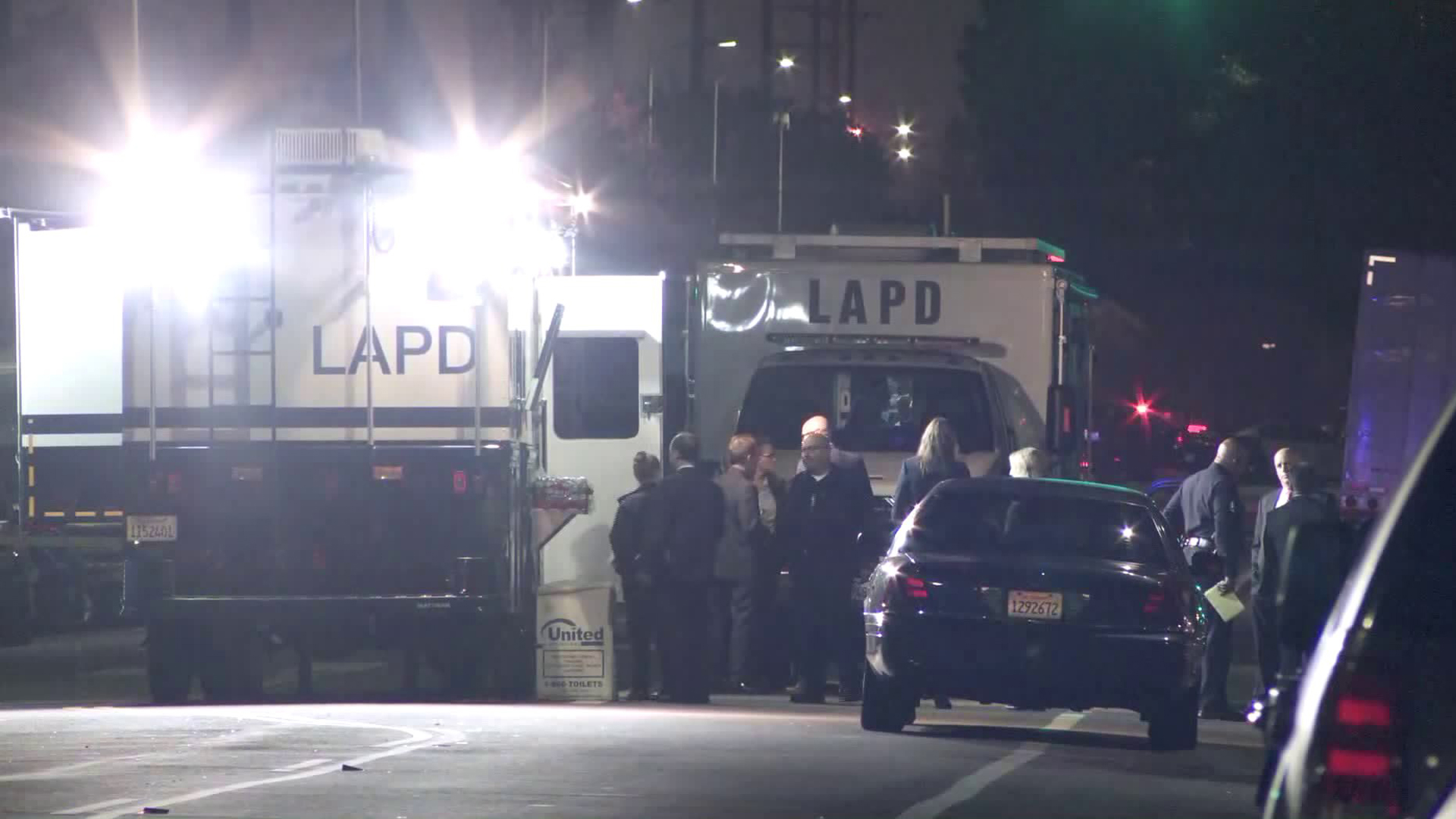 A fatal police shooting was under investigation in El Sereno on Aug. 18, 2019. (Credit: KTLA)