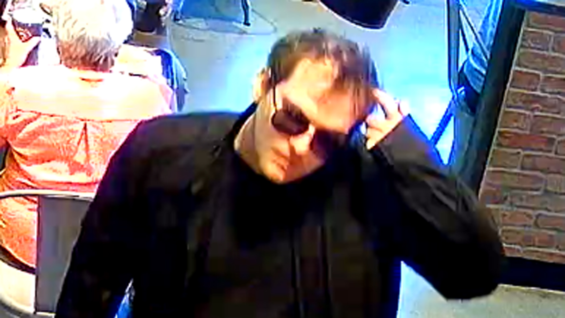 A man identified by San Luis Obispo police Skeeter Carlos Mangan is seen in a surveillance video still released by the agency on July 17, 2019.