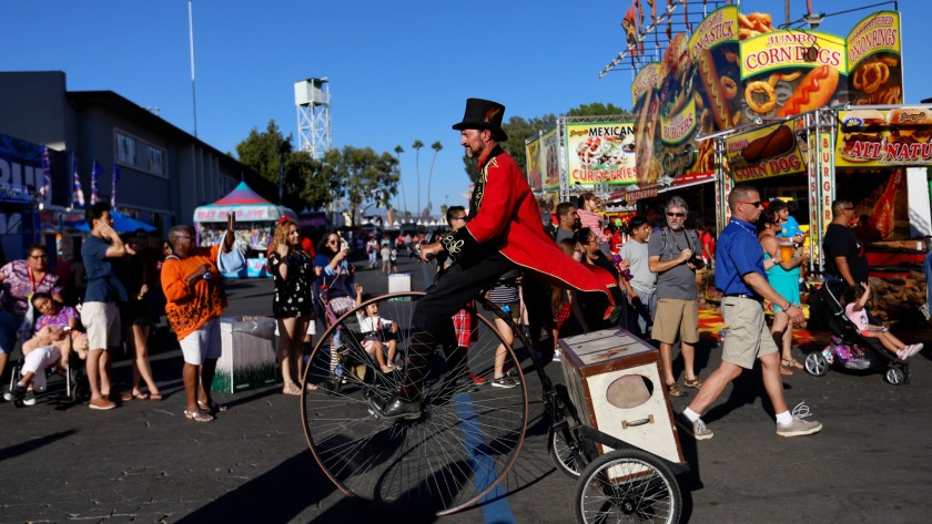 A parade makes its way through the L.A. County Fair at the Fairplex in Pomona.(Credit: Francine Orr / Los Angeles Times)