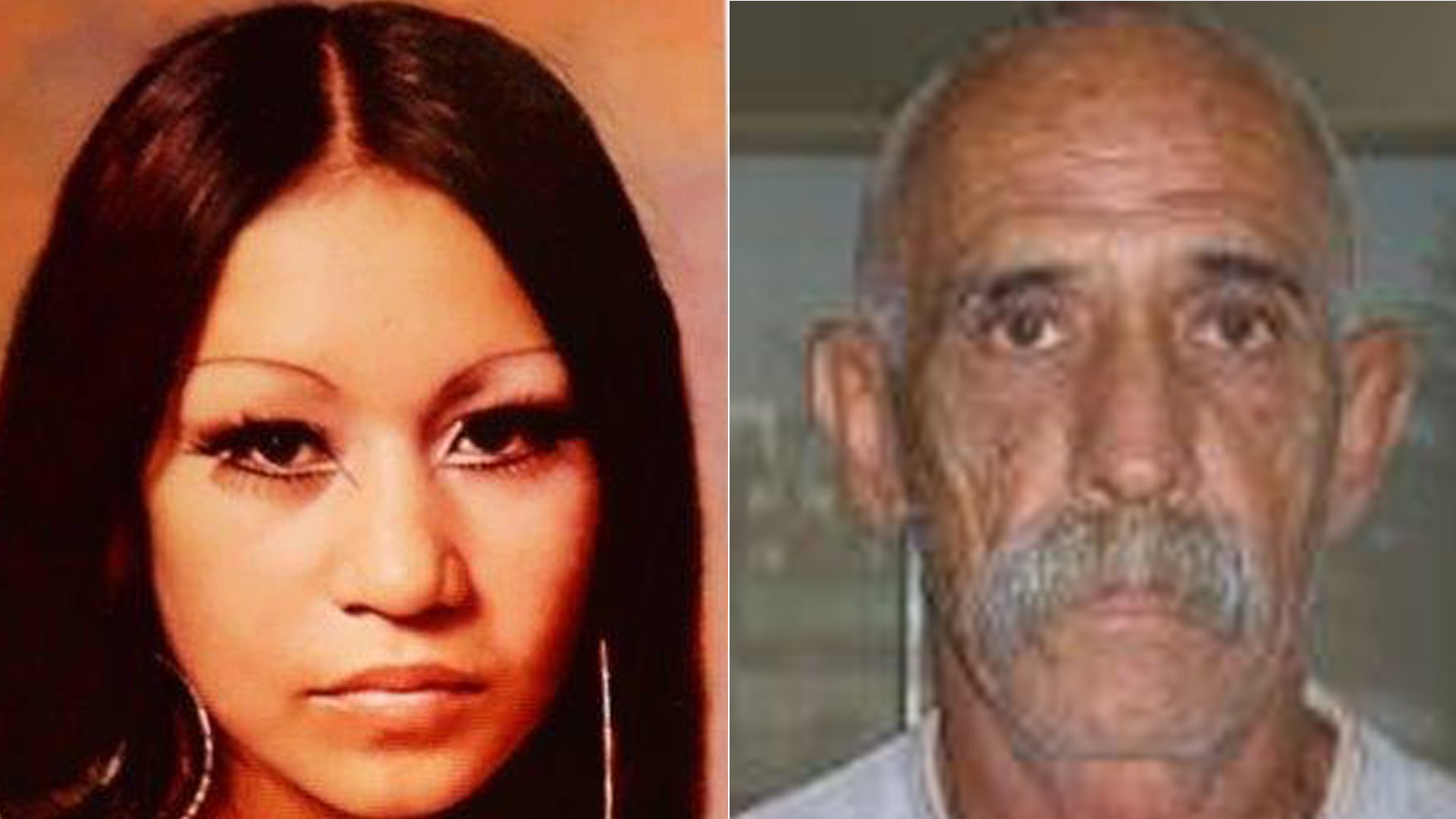 From left to right: Teresa Broudreaux, who was killed by Robert Yniguez in 1980, appears in an undated photo released by the Los Angeles County Sheriff's Department. Robert Yniguez is pictured in a photo released by the department.