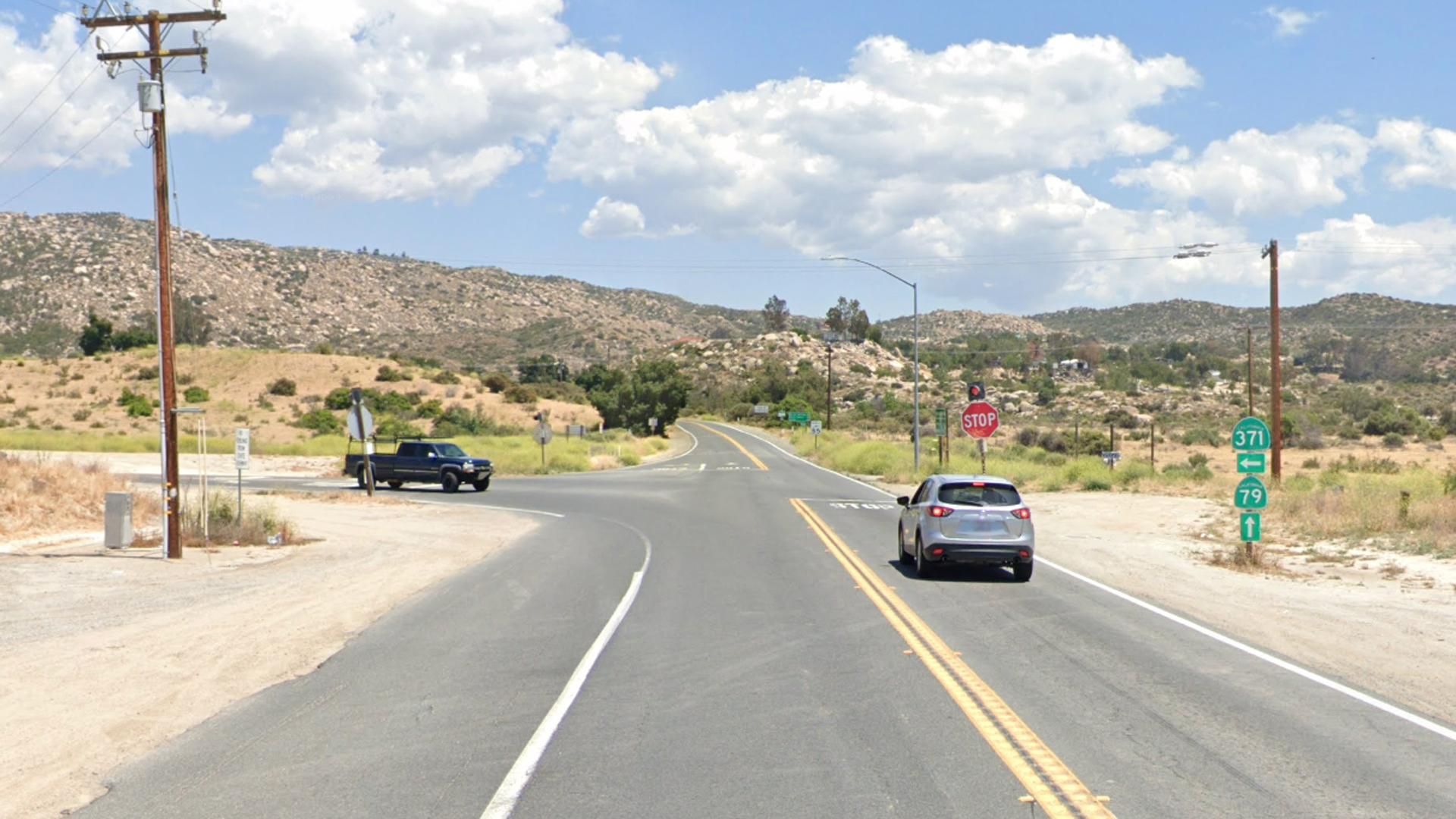 The 45000 block of Highway 79 in Aguanga, as viewed in a Google Street View image.