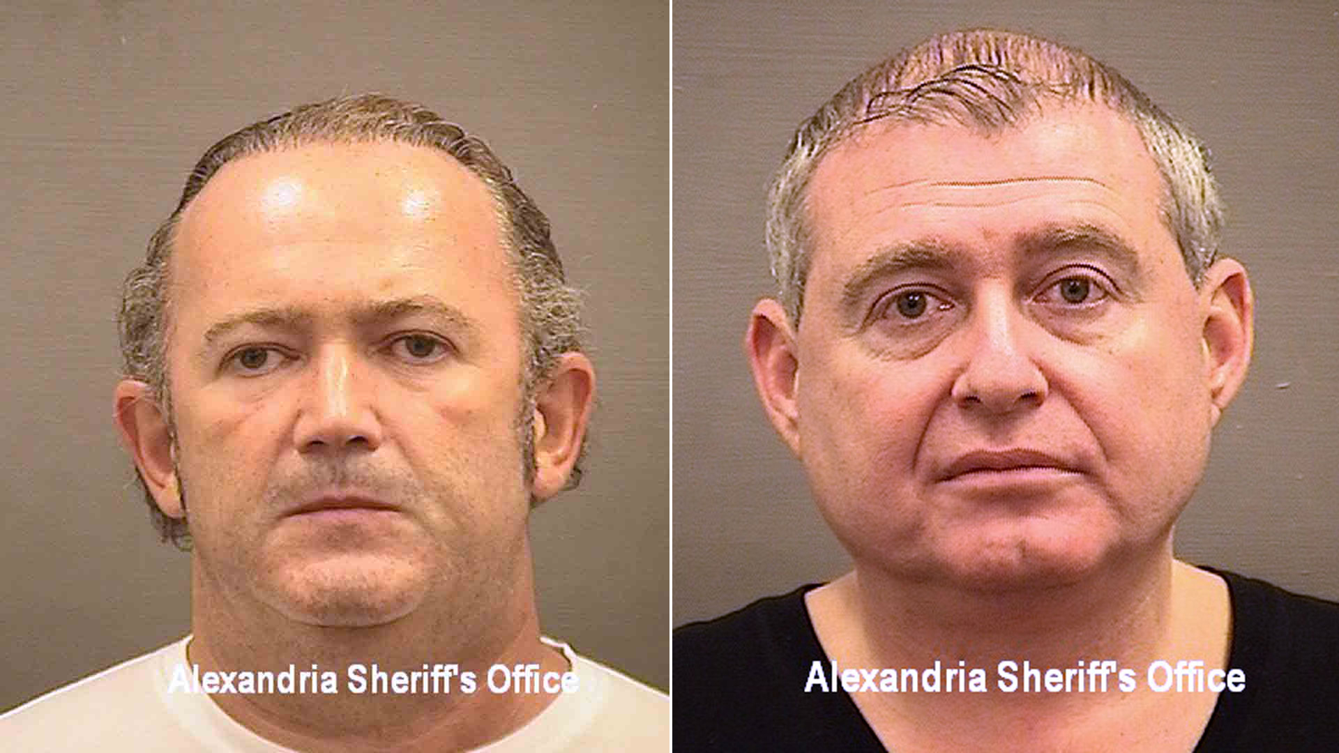 Booking photos of Igor Fruman, left, and Les Parnas, right. (Credit: Alexandria County Sheriff's Office via Getty Images)