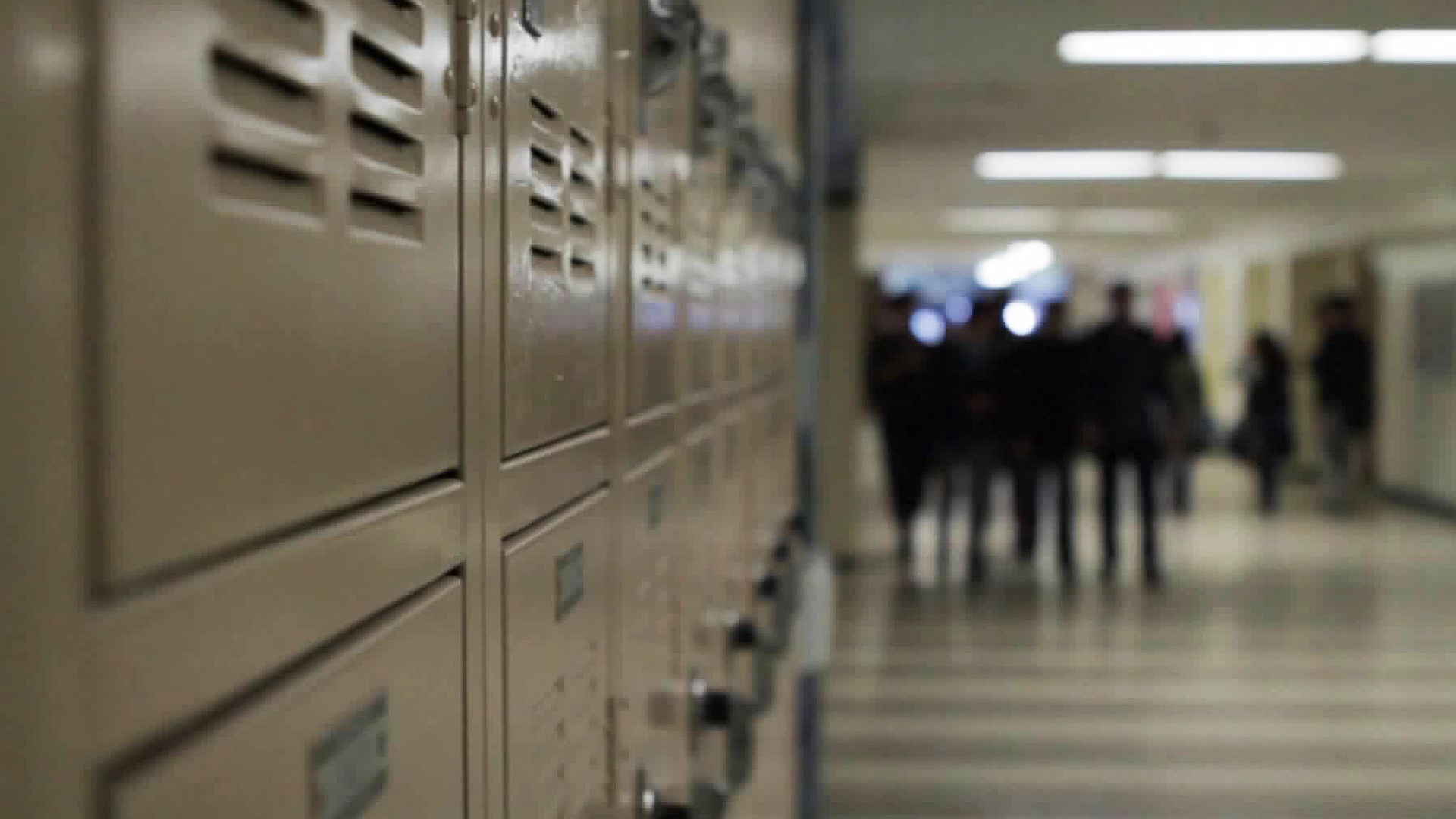 School lockers are seen in this file photo. (Credit: KTLA)