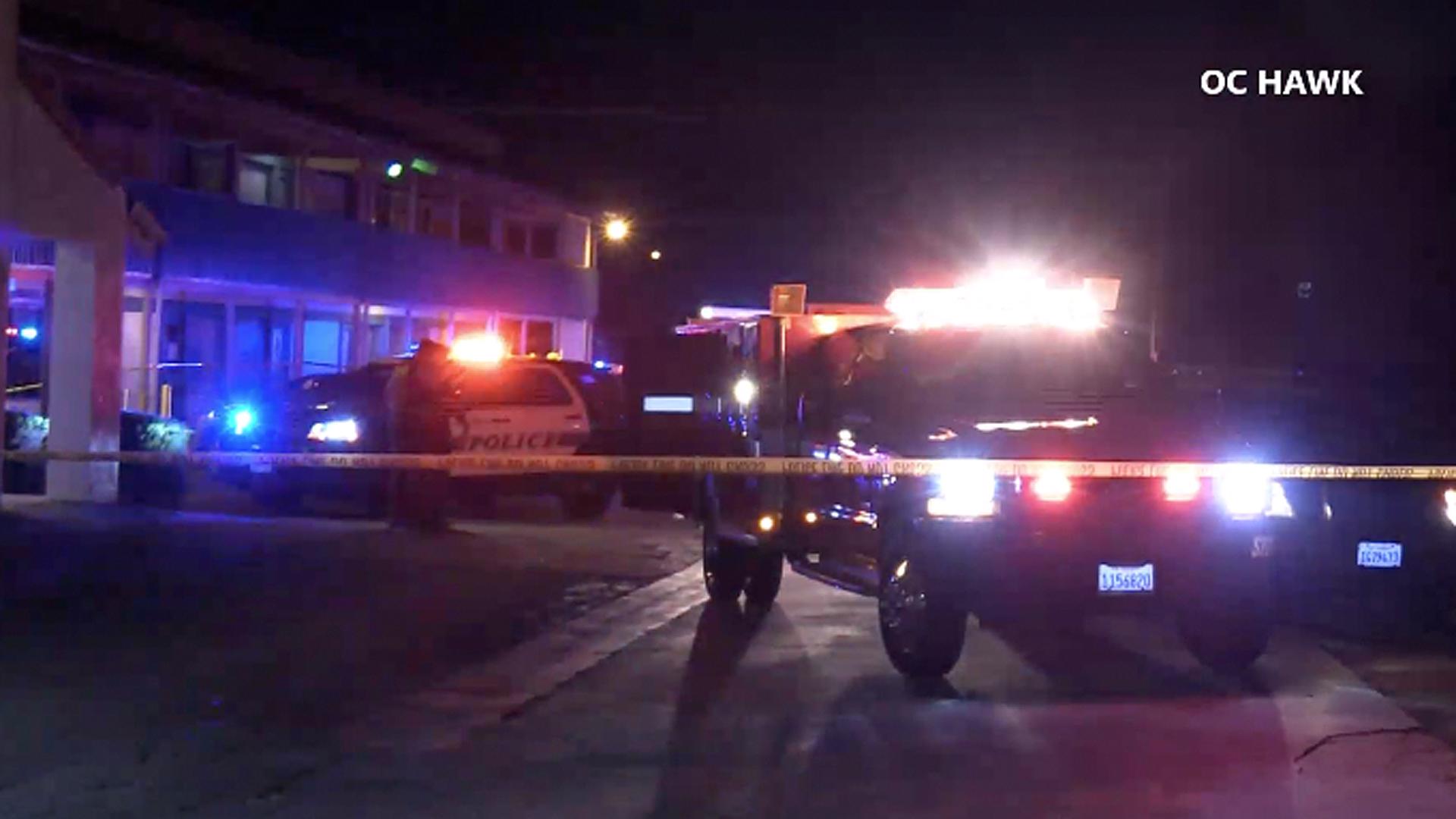 Authorities investigate a death in San Jacinto on Oct. 9, 2019. (Credit: OC Hawk)