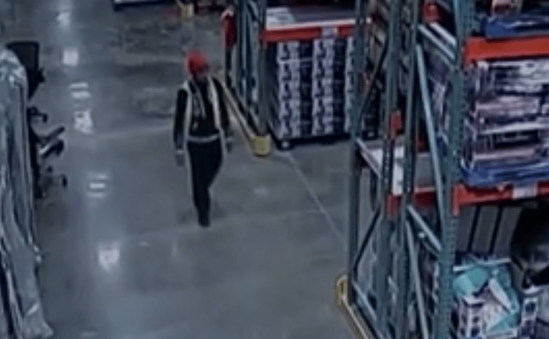 A man accused of stealing jewelry from an Atlanta Costco is seen walking through the store in undated surveillance video. (Credit: WSB via CNN)