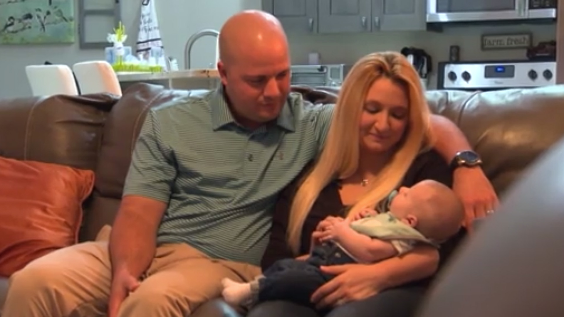 Krista and Anthony Rivera of Cape Coral were able to conceive their son, Garrett, through IVF treatment that they won on a radio show. (Credit: CNN)