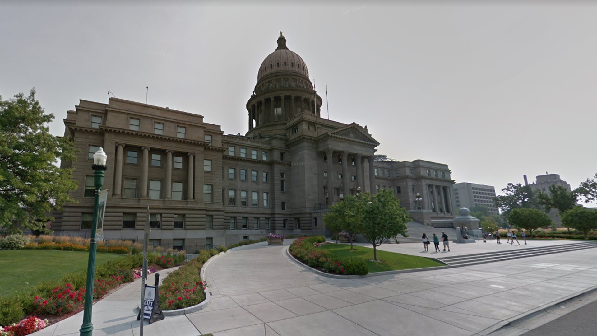 The Idaho State Capitol building in Boise is seen in a Google Maps image.