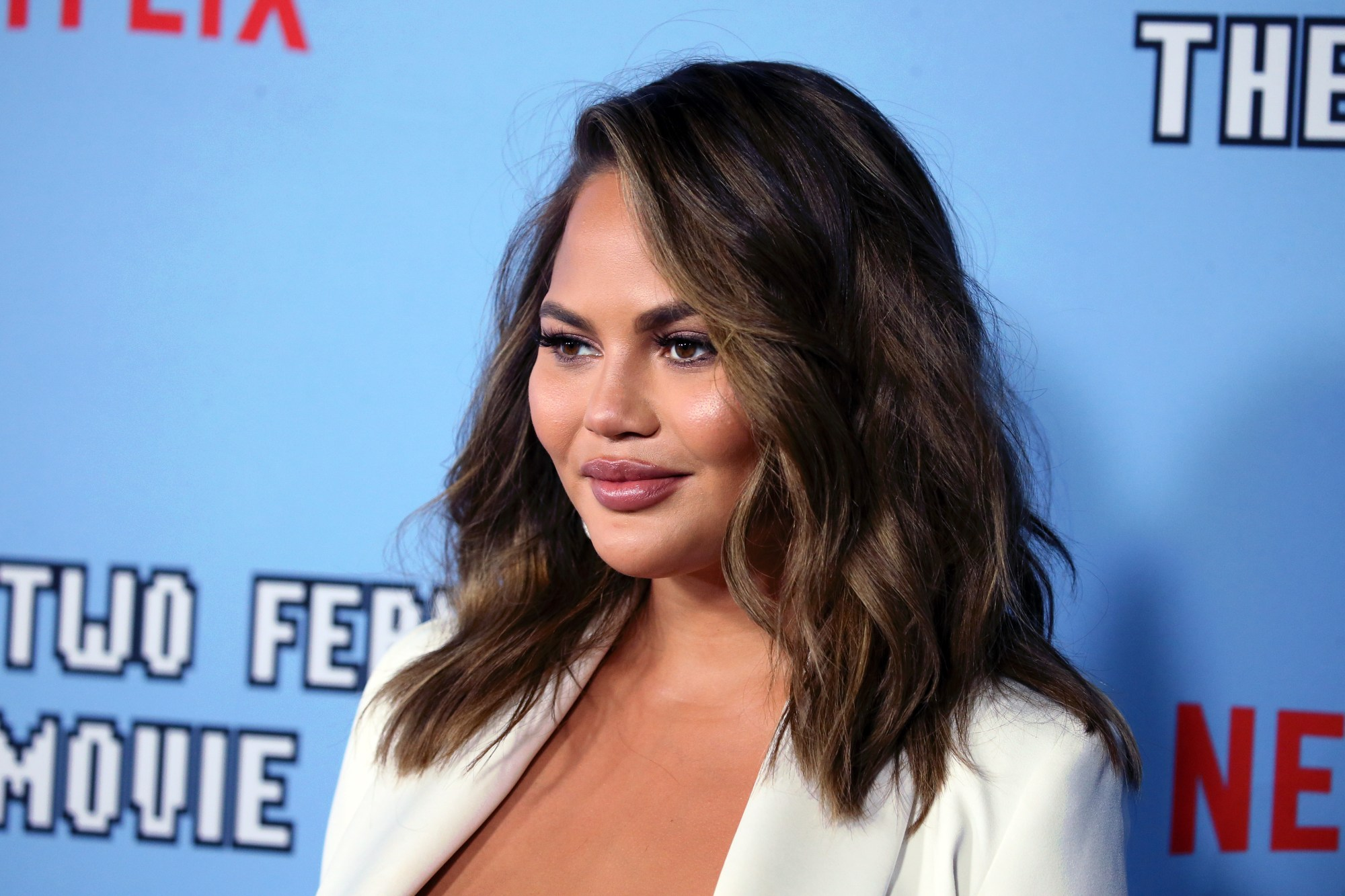 "Chrissy Teigen attends the LA premiere of Netflix's ""Between Two Ferns: The Movie"" at ArcLight Hollywood on September 16, 2019. (David Livingston/Getty Images)"
