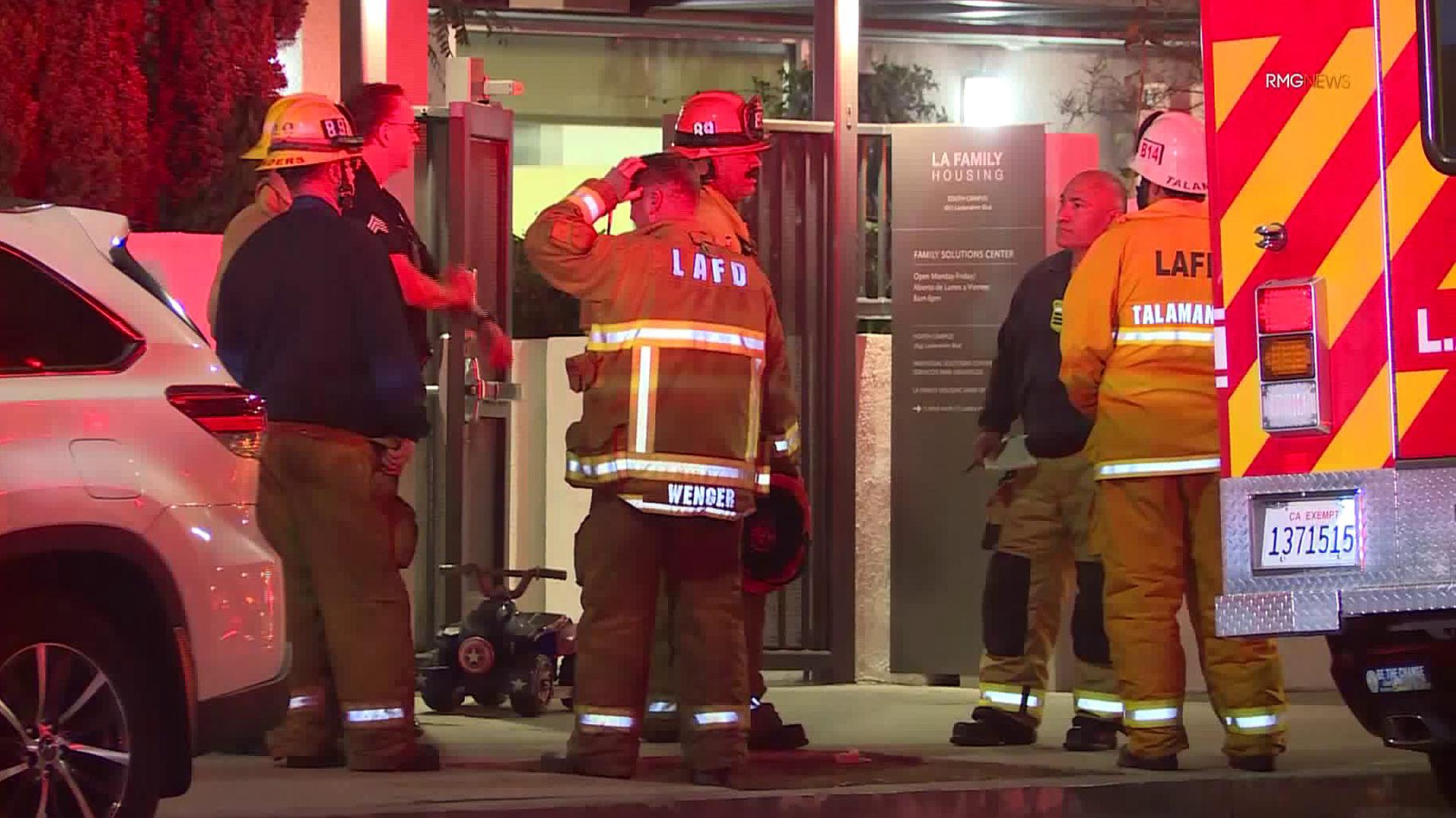 Crews respond to a hazmat situation in Sun Valley on Nov. 11, 2019. (Credit: RMG News)