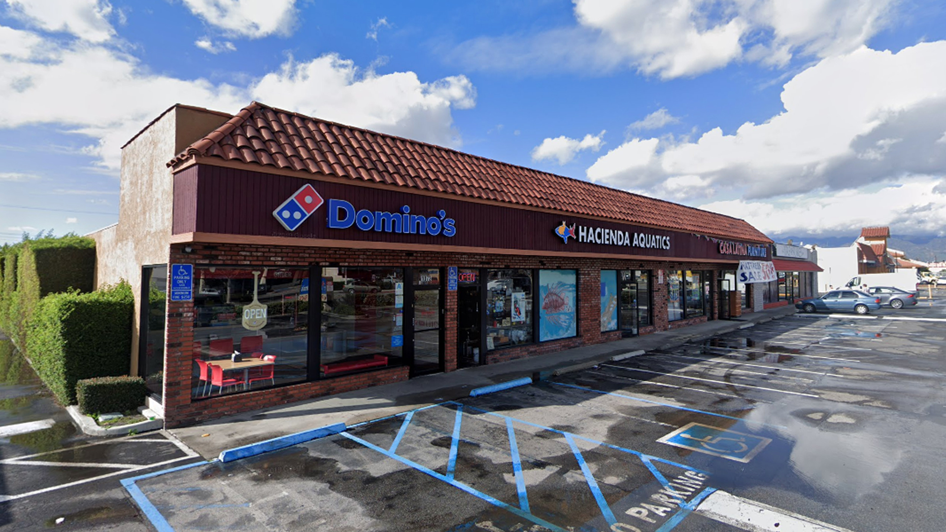 The Domino's Pizza on Hacienda Boulevard in La Puente is seen in a Google Maps Street View image.