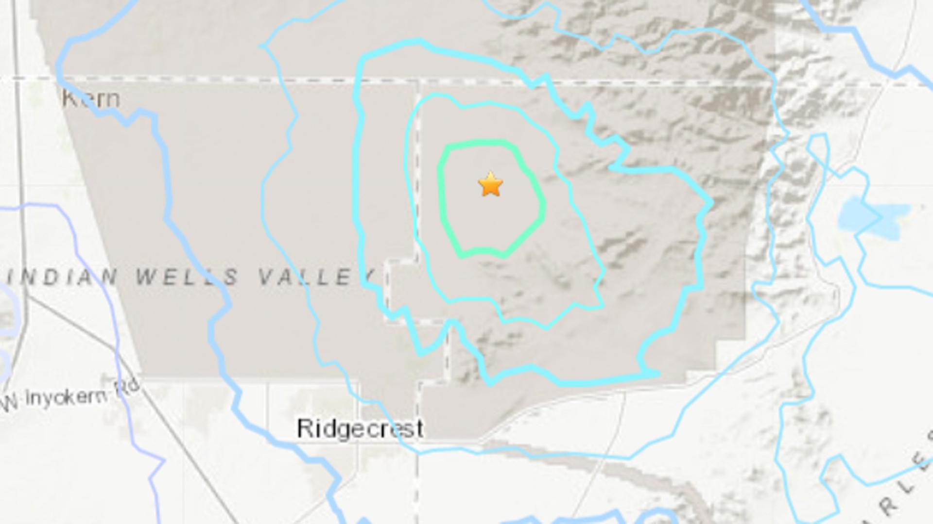 A 3.5 magnitude earthquake struck near Ridgecrest on Nov. 7, 2019. (Credit: USGS)