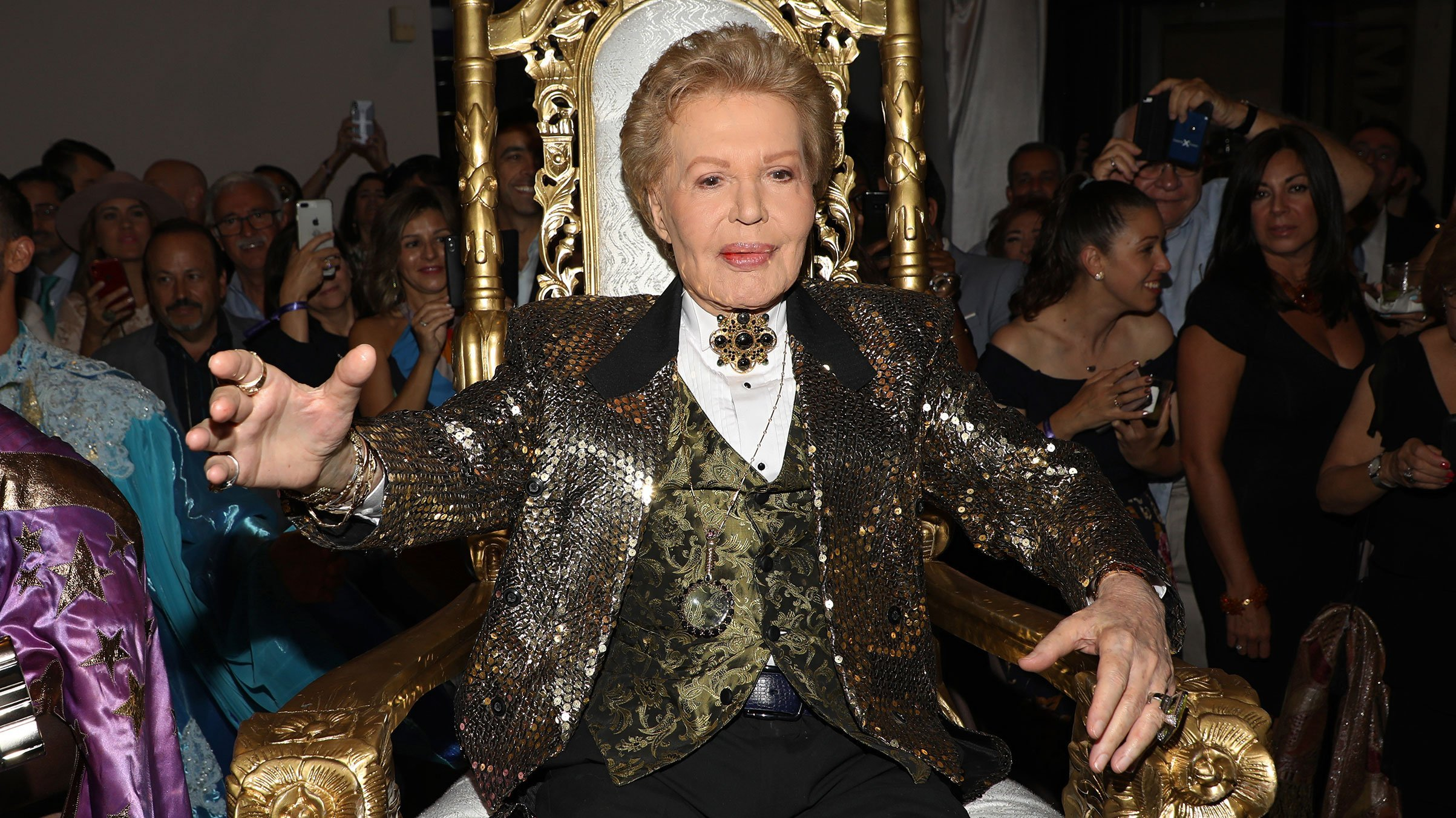 """Walter Mercado attends the opening of """"Mucho, Mucho Amor: 50 Years of Walter Mercado"""" at HistoryMiami Museum in Miami, Florida, on Aug. 1, 2019. (Credit: Alexander Tamargo/Getty Images via CNN)"""