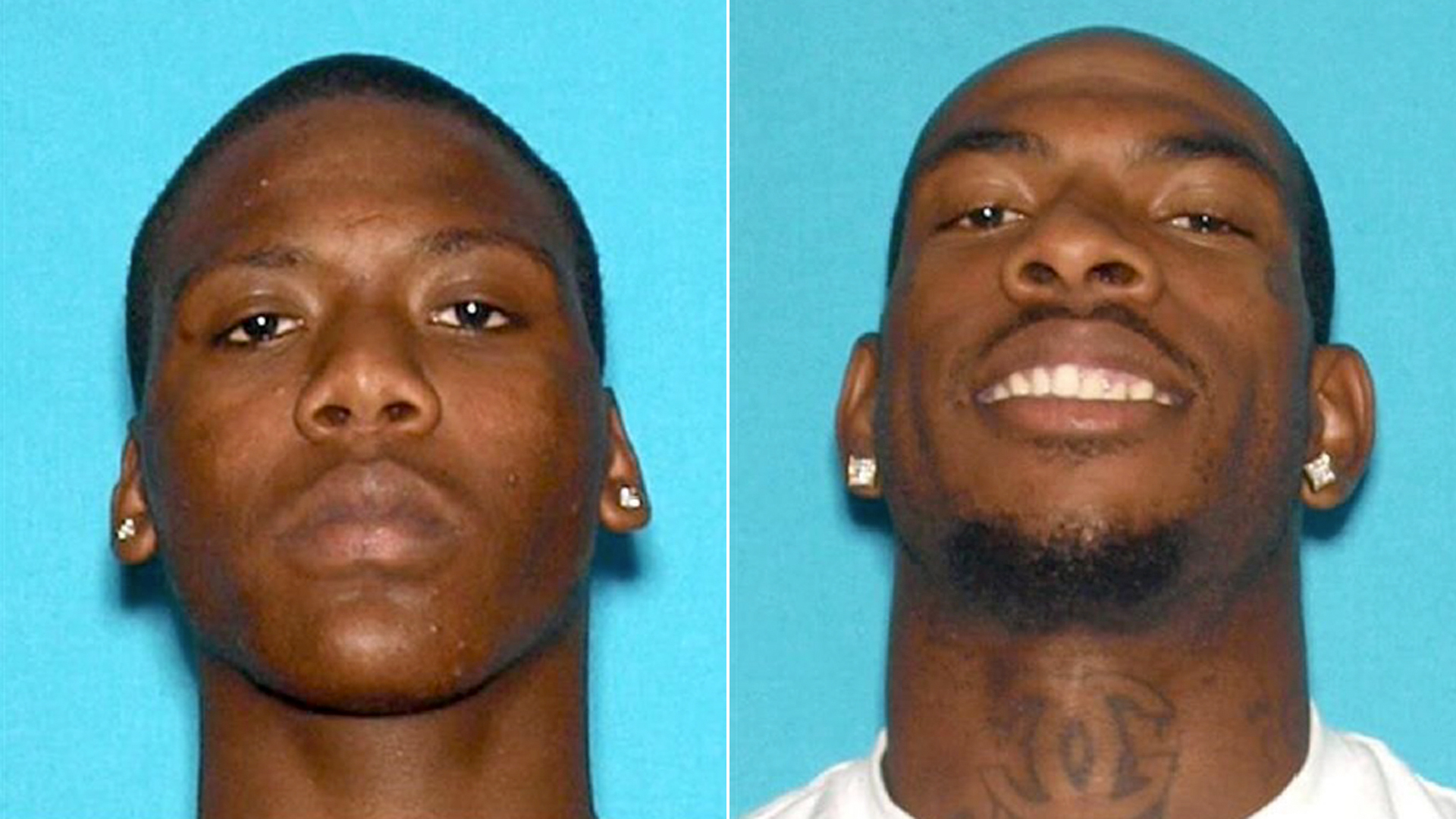 Christopher Lommie Jackson, 21, of San Bernardino and Terrence Edward Kenny, 24, of San Bernardino, pictured in photos released by the San Bernardino County Sheriff's Department on Nov. 20, 2019.
