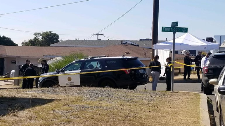 The shooting happened in the 2100 block of Flintridge Drive in the Paradise Hills neighborhood. (Credit: KSWB)