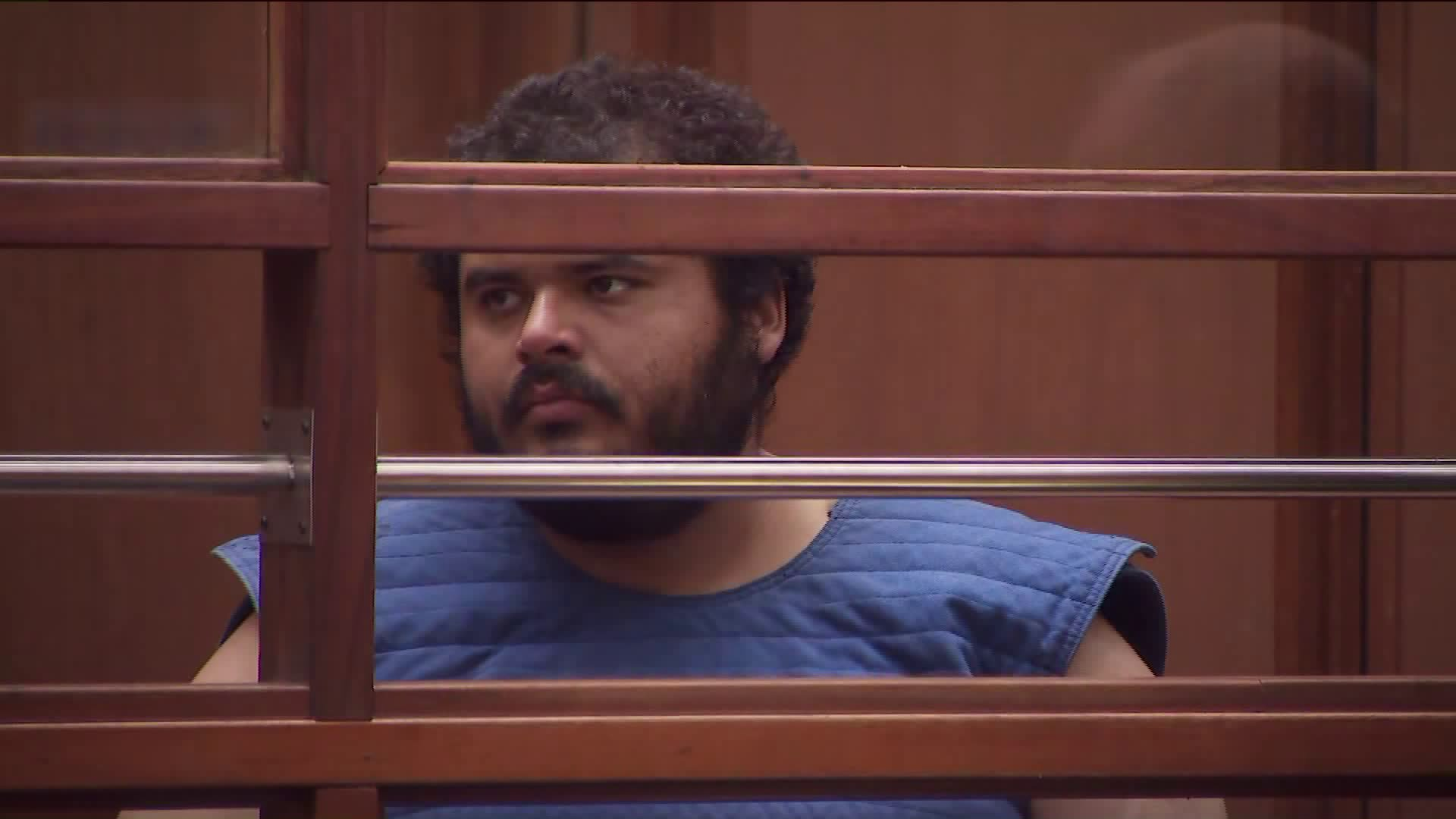 Victor Daniel Torres arraigned on Nov. 19, 2019. (Credit: KTLA)