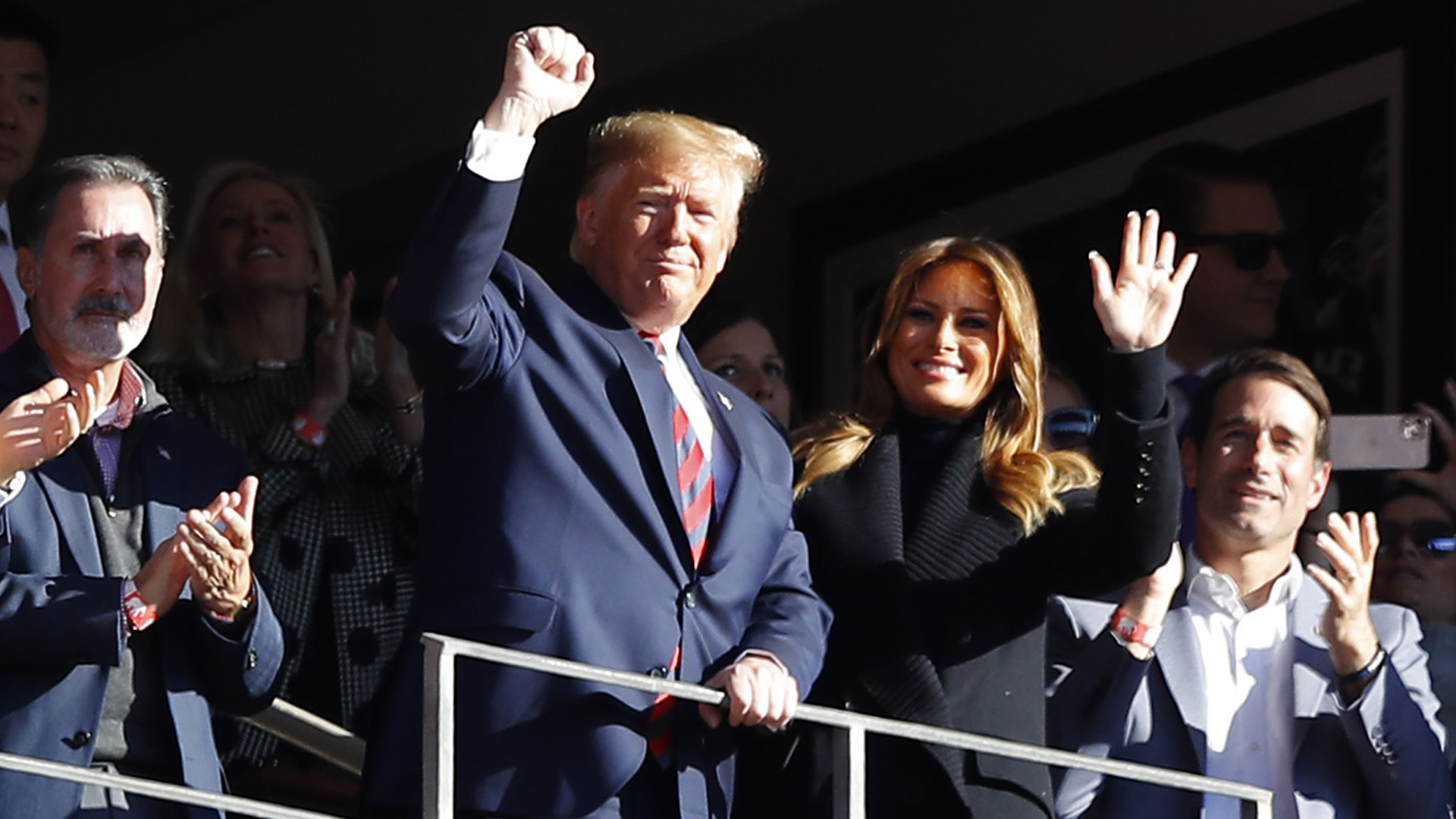 President Donald Trump and first lady Melania Trump attend the game between the LSU Tigers and the Alabama Crimson Tide at Bryant-Denny Stadium on November 09, 2019 in Tuscaloosa, Alabama. (Credit: Kevin C. Cox/Getty Images)