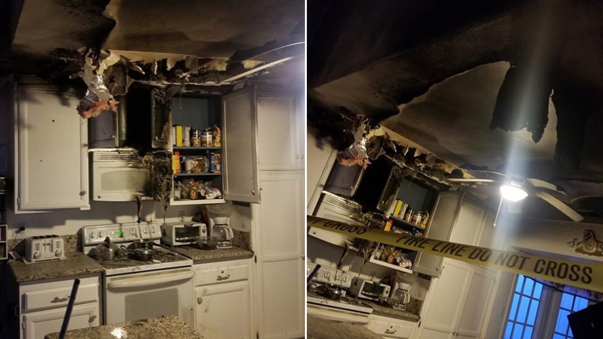 The aftermath of a fire at a Mission Viejo home on Nov. 30, 2019. (Credit: Orange County Sheriff's Office/ Instagram)