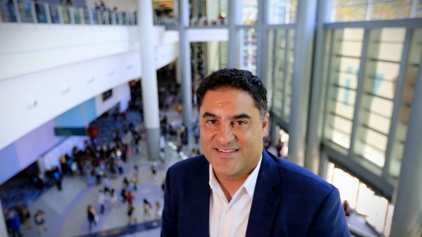"""Cenk Uygur, founder and co-host of """"The Young Turks"""" online talk show, is seen in this undated photo. (Credit: Allen J. Schaben / Los Angeles Times)"""