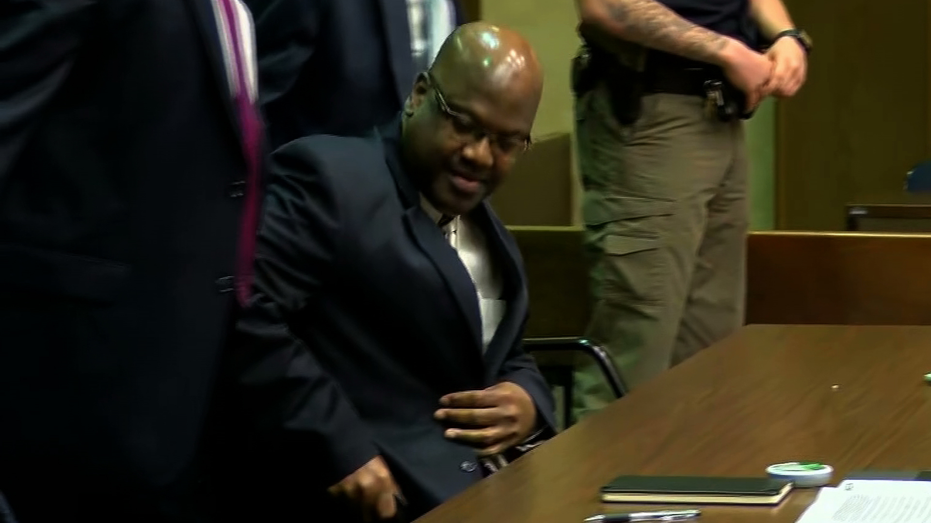 Curtis Flowers appears for a bail hearing in a Winona, Mississippi, courtroom on Dec. 16, 2019. (Credit: WLBT via CNN)