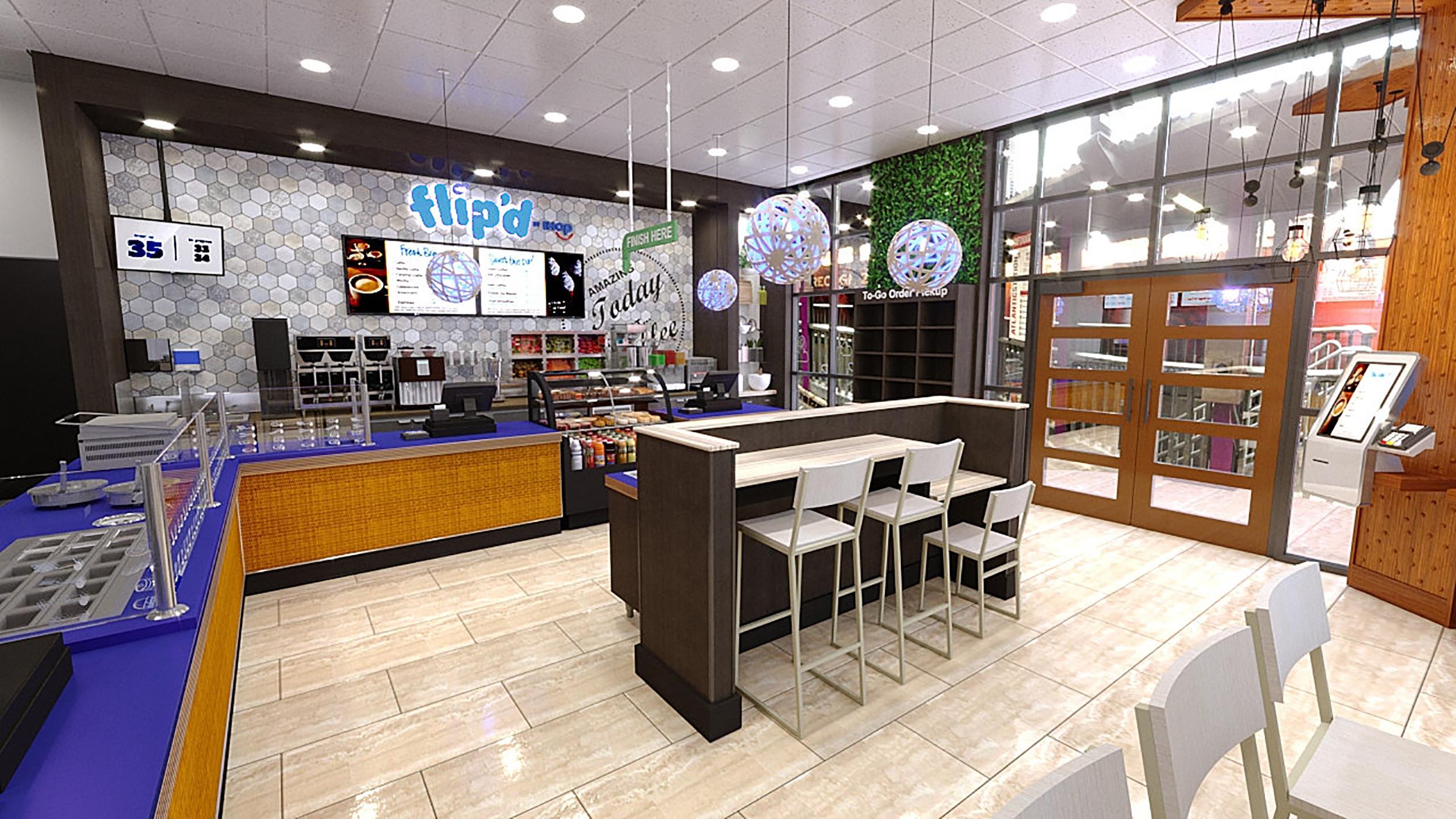 A rendering of a Flip'd by IHOP restaurant. (Credit: IHOP)