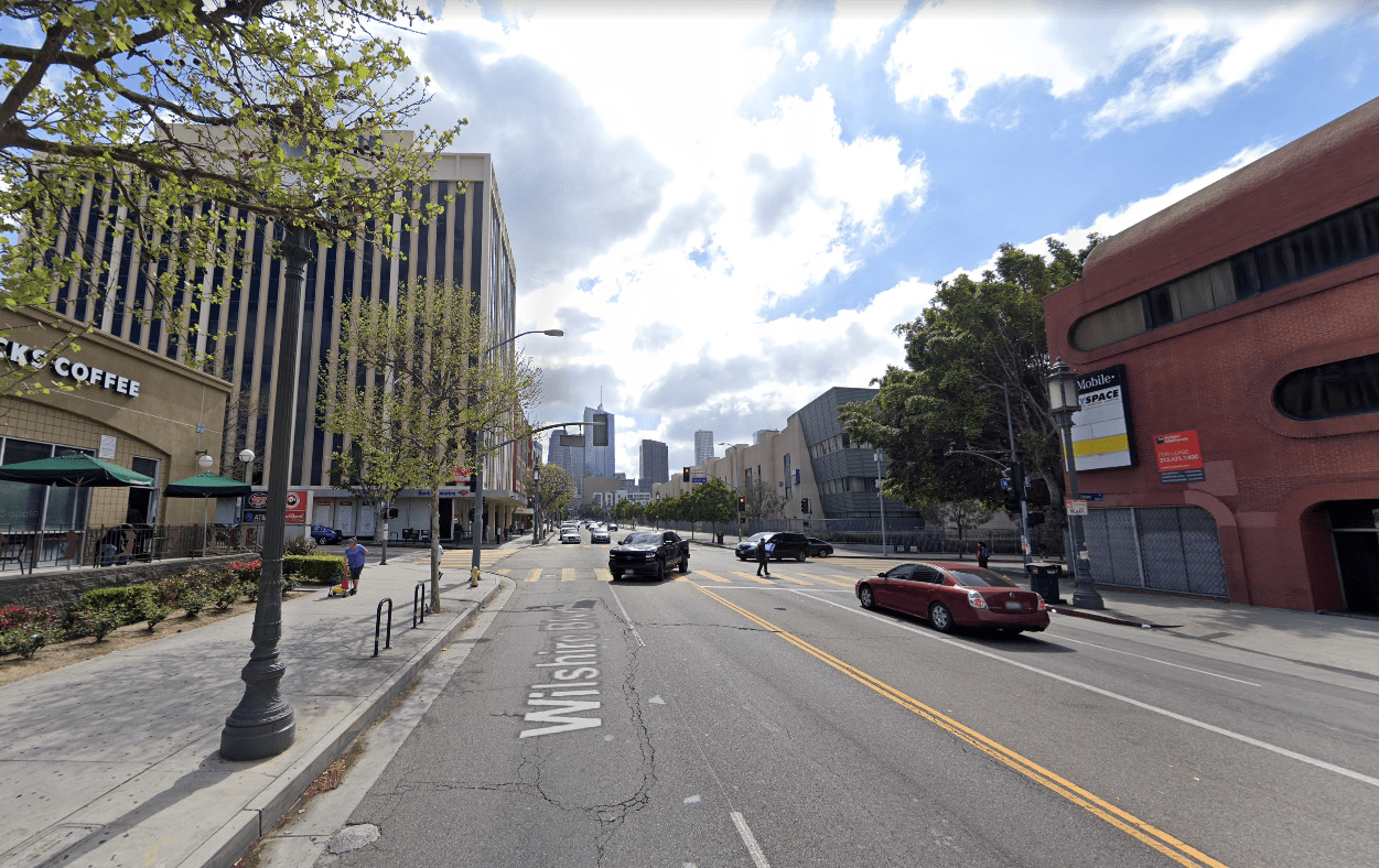 A Google Maps image shows Union Avenue and Wilshire Boulevard in the Westlake District of Los Angeles.