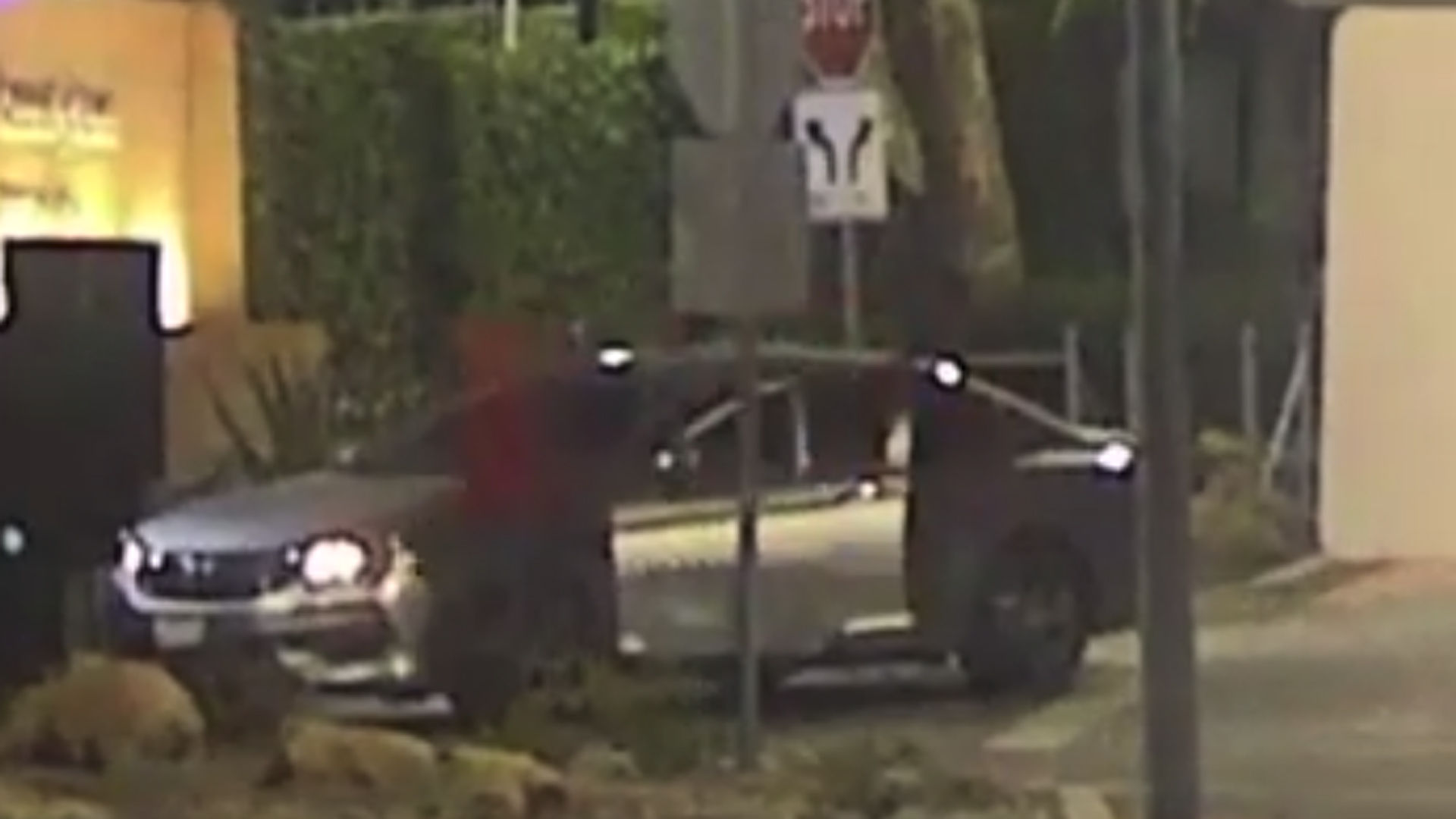 The suspect in a series of acts of vandalism appears in a still from video released by the Los Angeles Police Department on Dec. 18, 2019.
