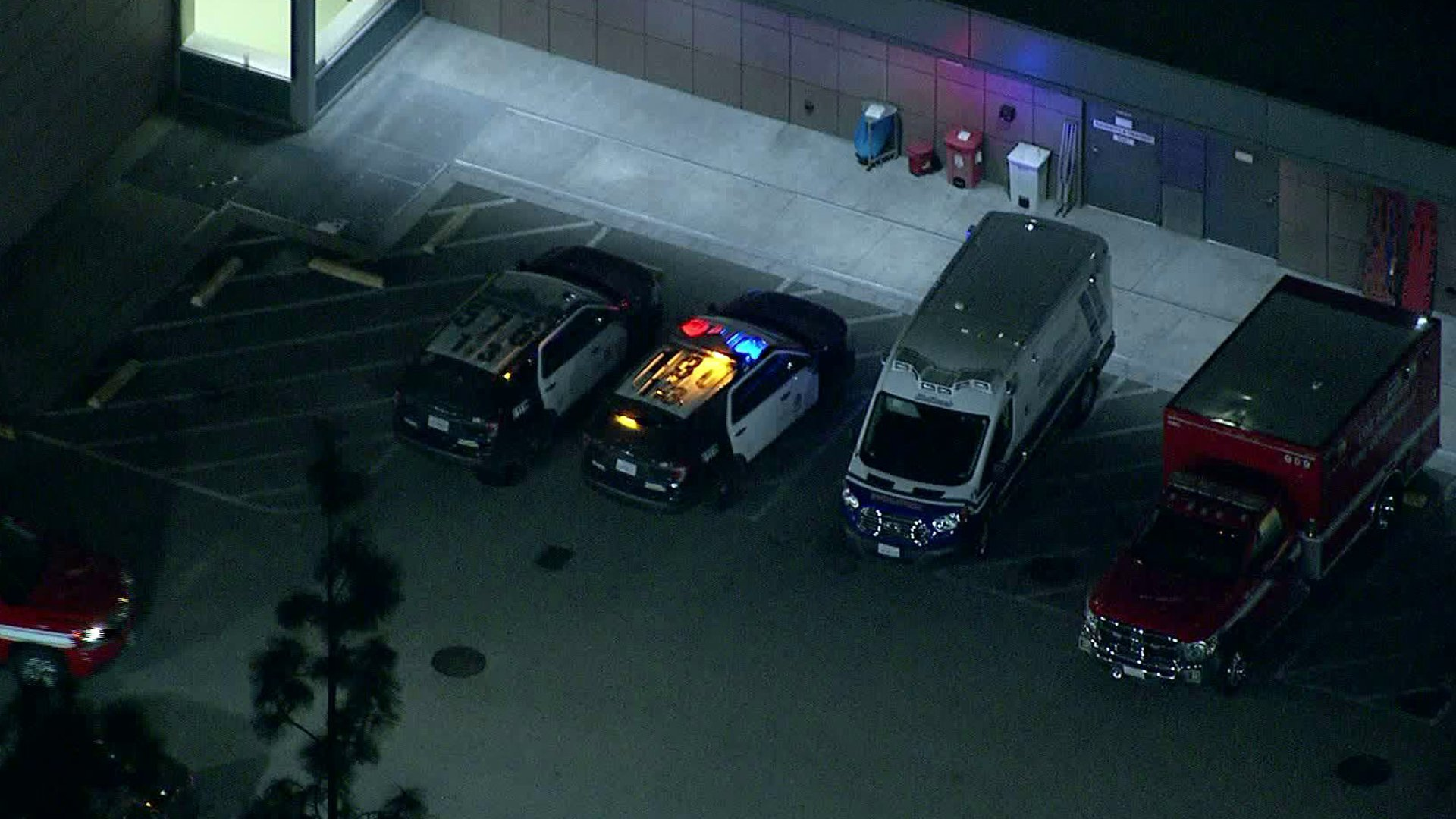 Child shot in South L.A. transported to nearby hospital. (Credit: Sky5)